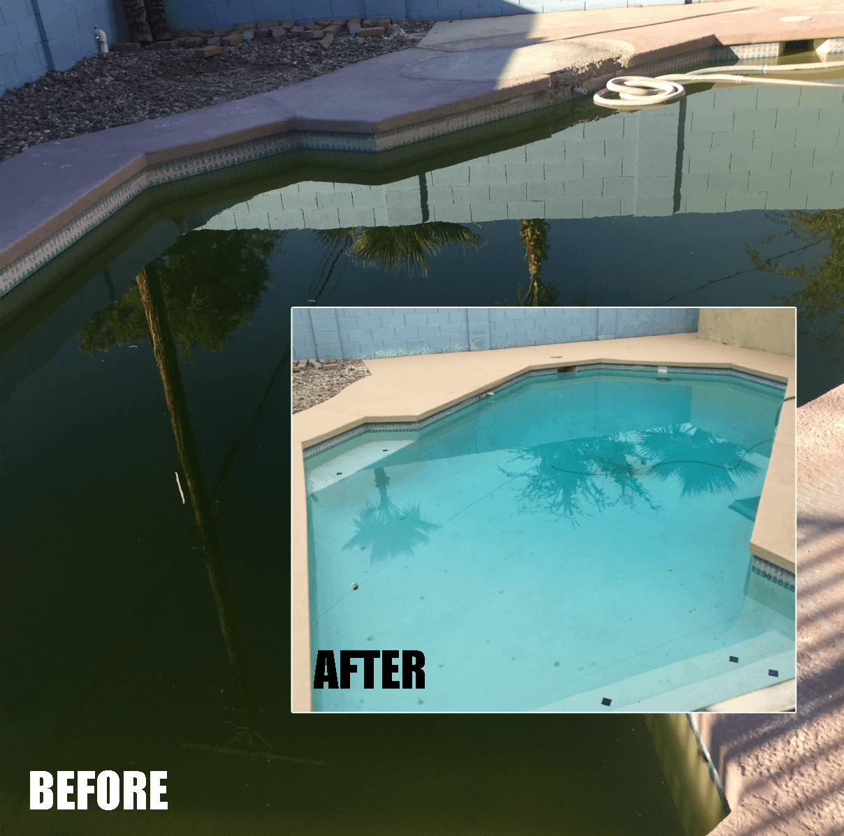 dec pool project Before AFTER