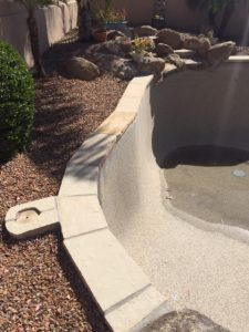 Remodels - Remove rolled pebble, and replace with flagstone cap